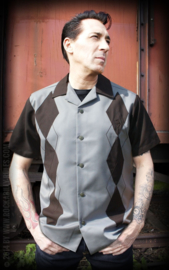 RUMBLE 59 LOUNGE SHIRT PANEL GREY