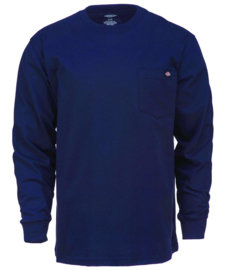 DICKIES LONG SLEEVE POCKET TEE DARK NAVY