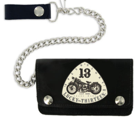 LUCKY 13 OLD BIKE  WALLET LEATHER BLACK
