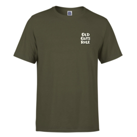 OLD GUYS RULE 'SURF 'N' TURF' T-SHIRT MILITARY GREEN