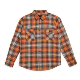 BRIXTON BOWERY LIGHTWEIGHT L/S FLANNEL BURNT ORANGE