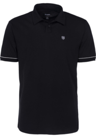 BRIXTON CARLOS POLO KNIT BLACK