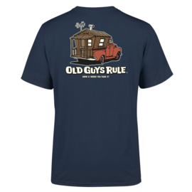 OLD GUYS RULE ' HOME IS WHERE' T-SHIRT  BLUE DUSK
