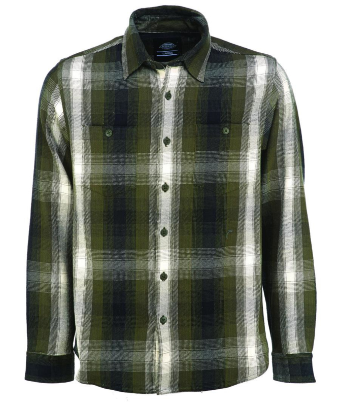 DICKIES PARKESBURG SHIRT OLIVE GREEN