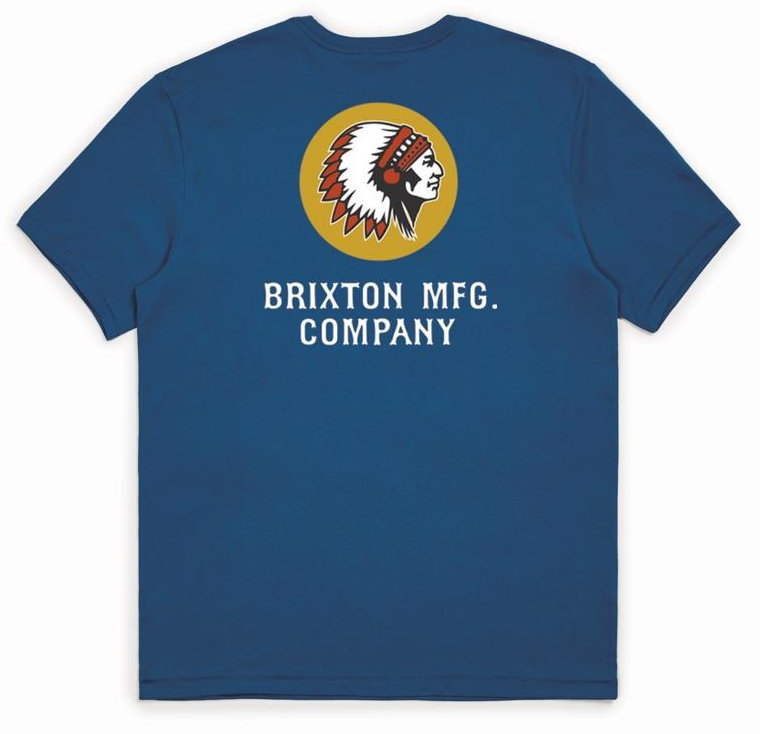 BRIXTON RIVAL LINE T-SHIRT  JOE BLUE