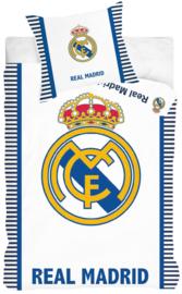Dekbedovertrek Real Madrid 1-persoons wit/blauw