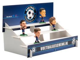 BARCELONA 4-PACK voetbalpoppetjes + GRATIS tribune