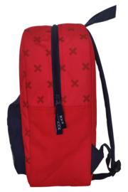 Ajax-rugzak rood/blauw - klein