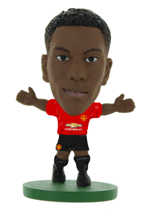 Soccerstarz voetbalpoppetje ANTHONY MARTIAL thuis shirt 2019