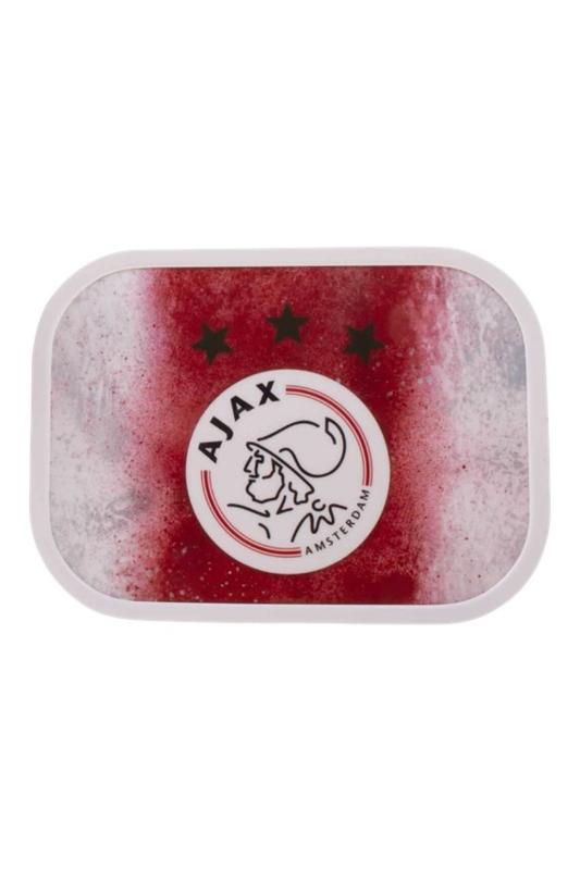 Ajax-lunchbox rood wit met Ajax logo