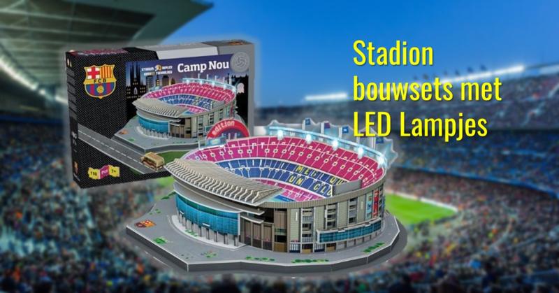Stadion bouwsets met LED lampjes