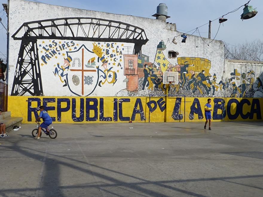De wijk La Boca in Buenos Aires