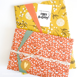 inpakpapier - flowers [red]