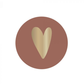 Sticker - Hart roest