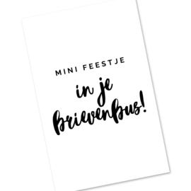 Mini kaartje - mini feestje