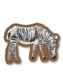 Label - zebra