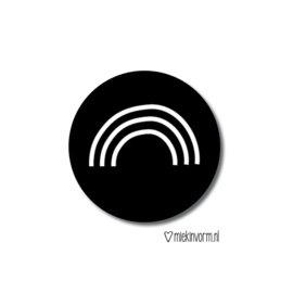 sticker - regenboog (zwartwit)