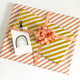 inpakpapier - stripes red