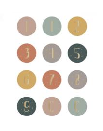 Sticker - cijfers