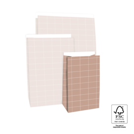 Blokbodem zak [klein]- grid [roze]