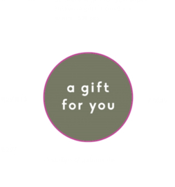 Sticker - a gift for you groen (rond)