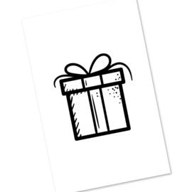 mini kaartje - cadeautje