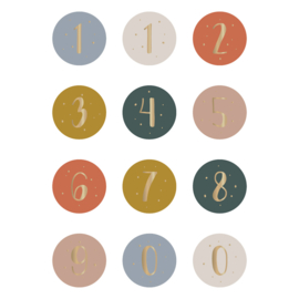 Sticker - cijfers [warm tones]
