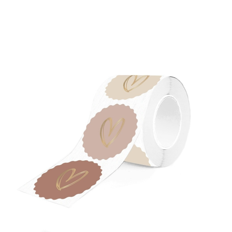 Stickers - heart gold multi (roze-nude)