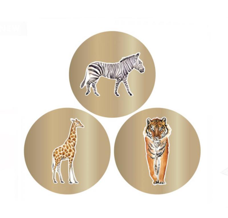 Sticker - Animals gold