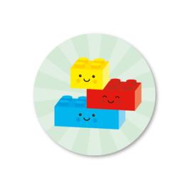 STICKERS 5 STUKS - LEGOBLOKJES GROEN