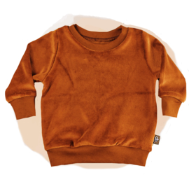 SWEATER  - VELVET COGNAC