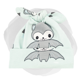 KNOOPMUTSJE HAPPY BATS MINT