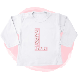 SHIRTJE - PANTER LETTER ROSE ROZE