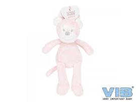 Pluche Aap Groot 35cm 'Very Important Monkey' Roze