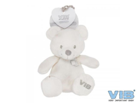 Pluche Beer Zittend 35cm 'Very Important Bear' Wit