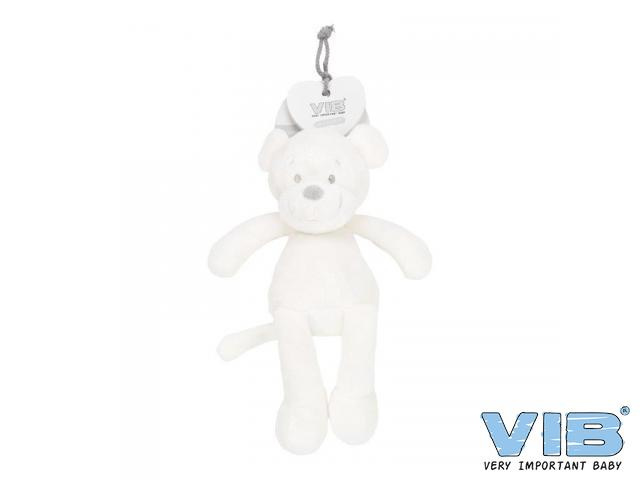 Pluche Aap Groot 35cm 'Very Important Monkey' Wit