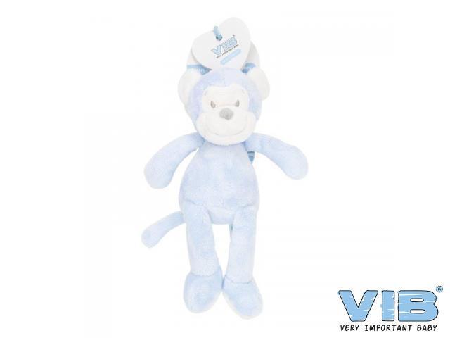 Pluche Aap Groot 35cm 'Very Important Monkey' Blauw