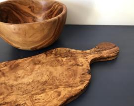 Olijfhouten tapas plank serveerplank snijplank