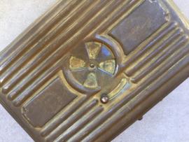 Antiek Frans koperen reis stoofje van Girodon & Cie uit Villeurbanne bij Lyon