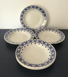 St. Amand Grands etablissements céramique 6 diepe borden blauw