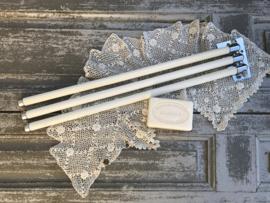 Frans roestvrij stalen handdoekenrekje chroom vintage