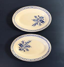 Badonviller demi-porcelaine antiek vleeswaren schaaltje