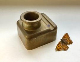Antiek inktpotje van brons