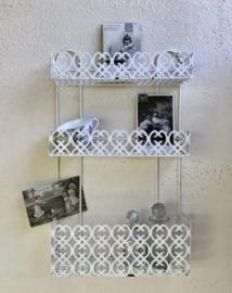 Vintage keukenrekje badkamerrekje met drie verdiepingen