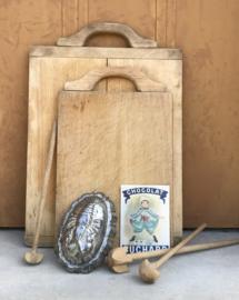 Set van drie houten quirls roerstaven kloppers