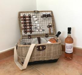 Nieuwe Franse picknick mand Saint-Michel voor 2 personen