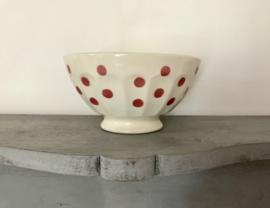 Franse bowl spoelkom kom met roze stippen dots