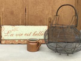 Frans bruin grès potje steengoed ironstone