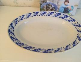 Ovale diepe schaal Porcelaine Opaque Grands Ets. Saint-Amand