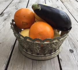 Siléa verzilverde fruitschaal